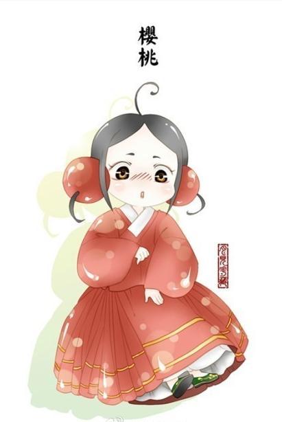 萌萌哒水果汉服:软萌可爱!月见花藏创作的水果汉服漫画